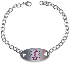 "PACEMAKER Medical Alert ID Bracelet with 9"" Chain Safety"