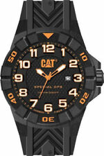 Mens Caterpillar CAT Special OPS K212121112 Black Rubber White Accent Date Watch