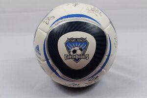 San Jose Earthquakes Signed Autographed Logo Soccer Ball Adidas Jabulani MLS