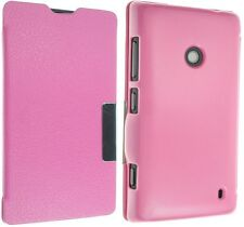 FOR NOKIA LUMIA 520 LEATHER CASE COVER FLIP WALLET POUCH BACK FREE PROTECTOR