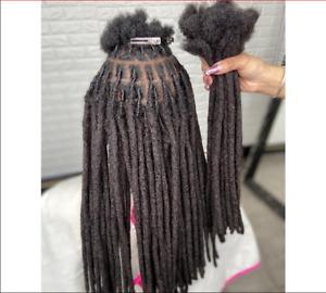 Remy Afro Kinky Curly 100% Human Hair Handmade Dreadlocks Braids Hair Extensions