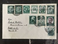 1935 Uberlingen Germany Cover 6 Deutsches Reich Stamps