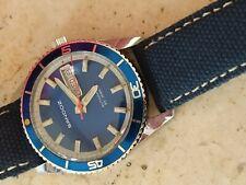 A rare blue vintage sandoz divers automatic men wrist watch