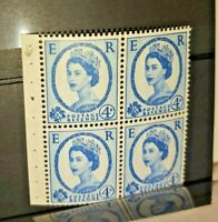 🔹️Queen Elizabeth II 4x Postage Revenue STAMPS Unused GB UK