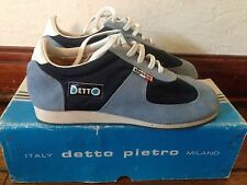 NOS Detto Pietro TD Touring Bike Cycling Shoes Sneakers Blue Suede/Nylon 37 NIB
