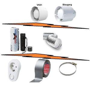 Kit Aspirazione Estrazione Aria Indoor-Filtro-Accessori-Growbox Serra Indoor