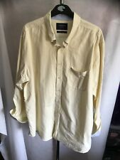 Charles Tyrwhitt Cream Long Sleeveshirt Classic Fit Size XL W410