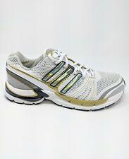 Adidas Men's AdiStar Ride 2 White Gray Gold Running Walking Shoe Size 9 1/2 New