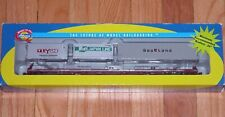 ATHEARN 74207 85' ALL PURPOSE FLAT CAR WITH 3 CONTAINERS COTTON BELT SSW 82816