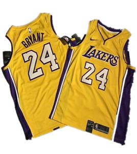 Los Angeles Lakers #24 Kobe Bryant Men's Yellow Hardwood Classics Sewn Jersey