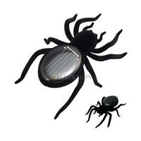 Educational Solar Energy Powered Spider Robot Black Toy Gadget For Kids Chi WT7n