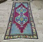Vivid Color High Quality Turkish Vintage Rug, Oushak Carpet Handmade Rug 4x8 ft
