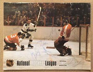 Oakland Seals NHL Game Program Pittsburgh Penguins 1968 Signed x7 Tough Clean 🏒