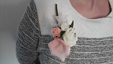 Ladies Peach & Cream Buttonhole