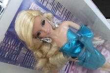 Barbie Look Collection City Shine Blue Dress Blonde Barbie Doll & Earrings