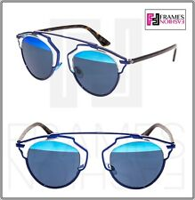 053c56f930ce7 CHRISTIAN DIOR SO REAL Navy Blue Havana Crystal Mirrored Sunglasses SOREAL