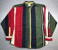 90s Vintage Mens Vertical Stripe Shirt Large Long Sleeve