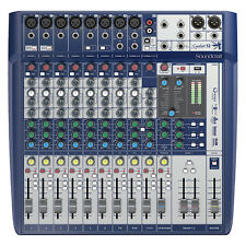 Soundcraft Signature 12 12-Ch Compact Analog Mixer w/ Preamps Effects 3-Band EQ