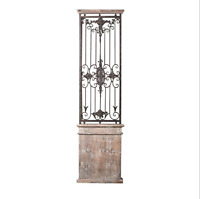 Wall Gate Art Decor Wood Iron Metal Panel Home Decorative Antique Rustic Vintage