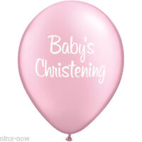 Baby Girl Christening Baptism Pink Balloons 28cm pack of 10