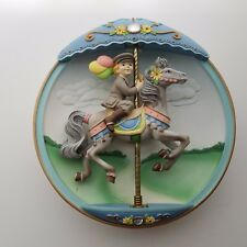 1995 Bradford Exchange Collector's Plate Movable Musical Carousel Daydreams 3D
