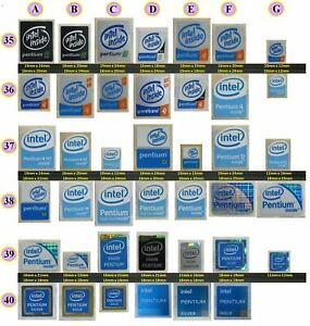 intel Pentium III Sticker / intel Pentium 4 Sticker / intel Pentium M D Sticker