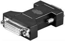 Analog DVI/VGA adaptor black DVI-I female Dual-Link 24+5 pin to VGA male 15-pin