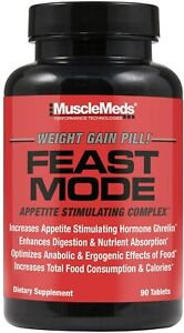 MuscleMeds FEAST MODE Weight Gainer Pills Appetite Stimulator, 90 Capsules