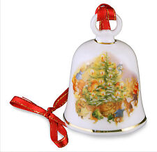 Reutter Porcelain Beatrix Potter Christmas Tree Design Bell Decoration NEW