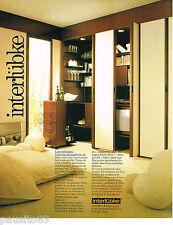 PUBLICITE ADVERTISING 065  1980   INTERLUBKE  ameublement meubles