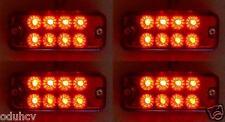 4 piezas 24v LED DELANTERO LATERAL ROJO Luces de marcaje Luz Camión Trailer BUS