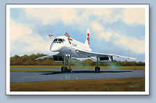 British Airways Concorde last flight to Filton print signed by 4 Pilots