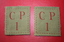 DADS DADS ARMY HOME GUARD CP1 CP 1 CLOTH PATCHES PAIR