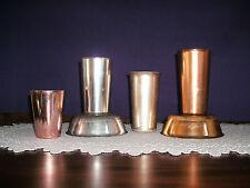 VINTAGE SUNBURST & BASCAL  ALUMINUM SUNBURST BOWLS & CUPS 2 LG GOLD CUPS UNKNOWN