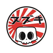 Sticker plastifié SUZUKI Japan SKULL Bandit GSR GSX-R Hayabusa  - 6cm x 6cm