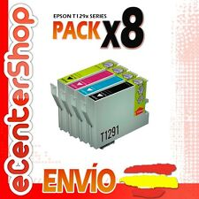 8 Cartuchos T1291 T1292 T1293 T1294 NON-OEM Epson Stylus SX430W