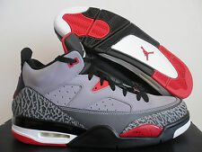 NIKE AIR JORDAN SON OF LOW CEMENT GREY-WHITE-BLACK-FIRE RED SZ 11.5 [580603-004]