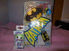 dc comics batman collectors set patch button key chain-sticker