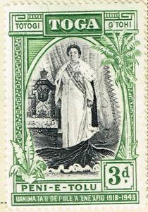 Toga Tonga Queen Sālote Tupou III stamp 1938 MLH