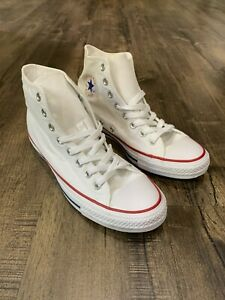 Converse White Chuck Taylor All Star High Top Unisex Shoes Size M 9 W 11 Optical