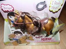 "Bratz Kidz Doll Horseback Fun Jumper Horse PVC Articulated 8"" Figure Neighs New"