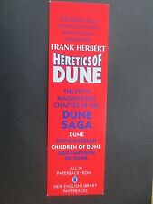 BOOKMARK Frank Herbert Heretics of Dune 1987 Book Promo New English Library