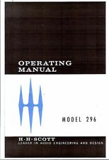 Scott manuale di istruzioni user manual Owners Manual per MODEL 296