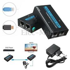3D HDMI 1080P LAN Extender Adapter Over Cat5e Cat6 To RJ45 Cable 30M for HDTV
