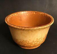 Vintage Haeger Art Pottery Planter Golden Brown Yellow Drip Glaze #3833