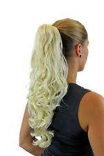 POSTICHE / TRESSE bouclées longues 50 cm épingle à cheveux-papillon blond