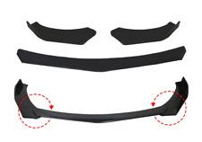 Front Bumper Lip Chin Spoiler Splitter Universal For BMW Audi Subaru Gloss Black