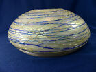 Rare Pallme Konig Loetz Era Bohemian Art Glass Threaded Iridescent Lamp Shade