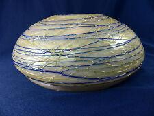 Rare Pallme Konig Loetz Era Bohemian Art Glass Threaded Iridescent Lamp Shade