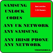 Unlock Code For Samsung  J1 J2 J3 J5 J4 J6 J7  A5  A6  A7 A8  A9 - EIR  IRELAND